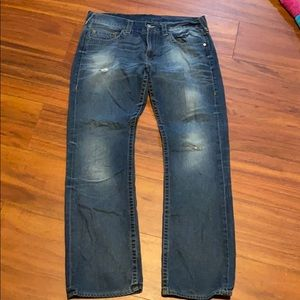 Men's 36/33 True Religion Straight jeans